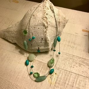 Silpada Howlite, Amazonite & Serpentine Necklace